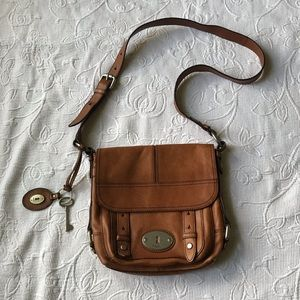 FOSSIL leather cross body purse vintage 1954